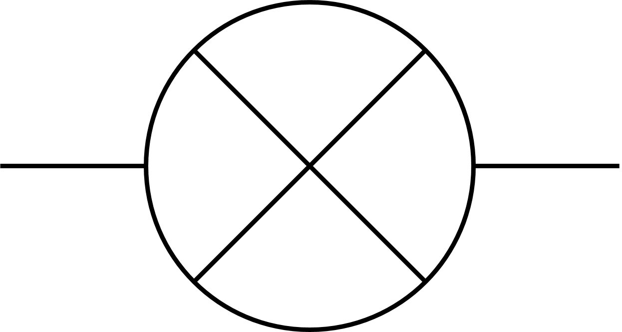 light bulb symbol circuit diagram
