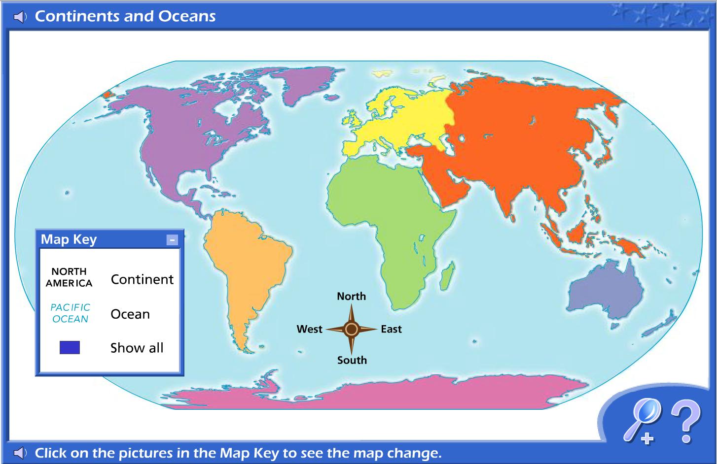 Continents Interactive Content Classconnect