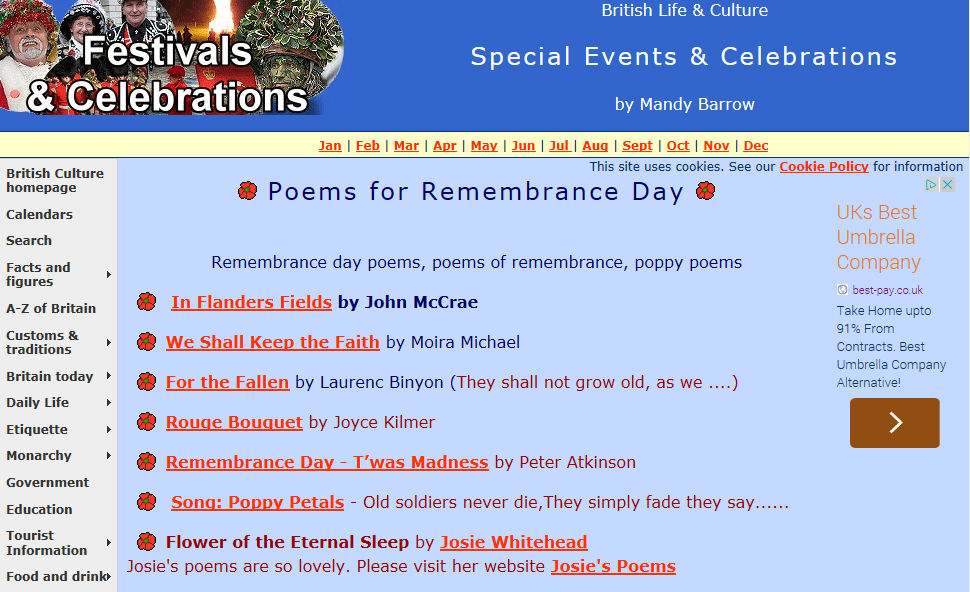 Remembrance Day Poems - Content - ClassConnect