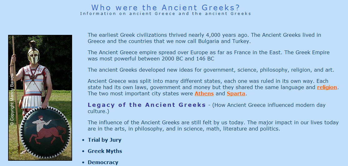 how is the greek idea of