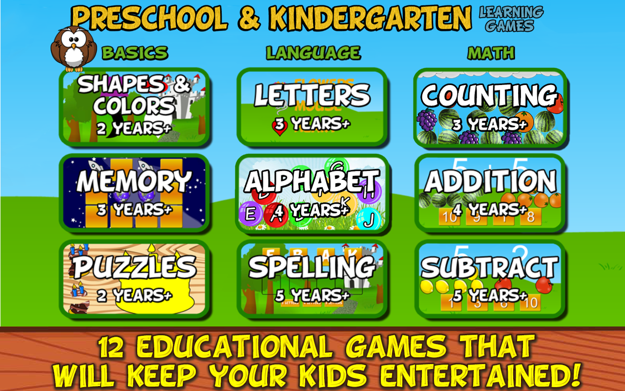 Preschool and Kindergarten Learning Games - Content - ClassConnect