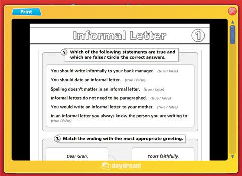 Formal Informal Letters Content ClassConnect